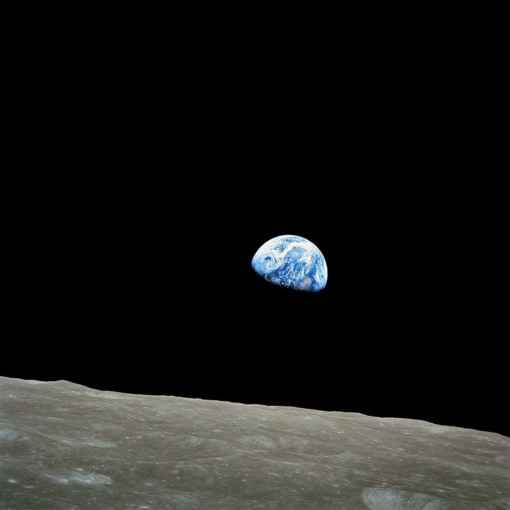 Earth, Soil Creep, Moon, Lunar Surface, Globe