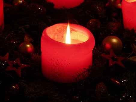 Candle, Flame, Light, Advent Wreath