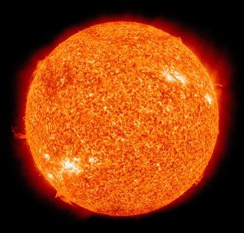 Sun, Fireball, Solar Flare, Sunlight