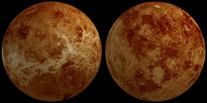 Venus, Planet, Hemisphere, Front Side