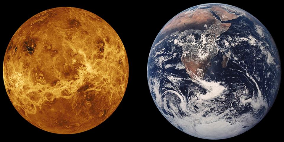 Venus, Tierra, Comparación De Tamaño, Planeta, Espacio