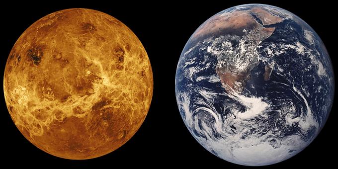 金星, 地球, サイズ比較, 惑星, スペース, 宇宙旅行, 金星, 金星