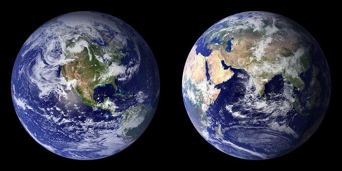 Terre Planet Front Side Retour Continents