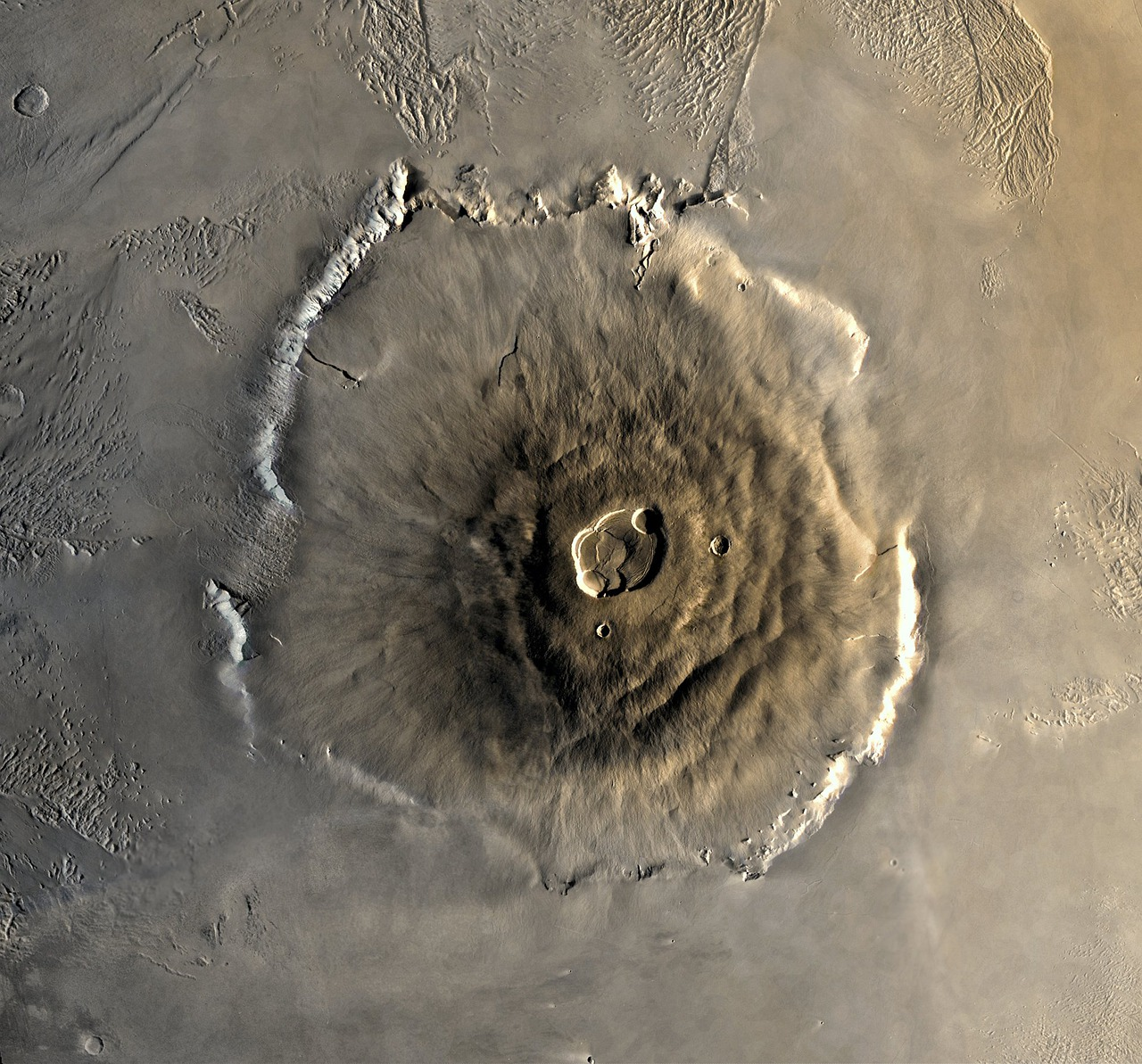 The height of Mount Olympus on Mars is 25 km (15 miles).