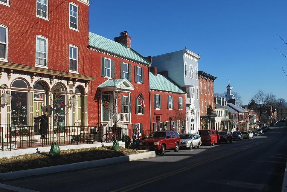 Street, West, Virginia, Town, Small, Village