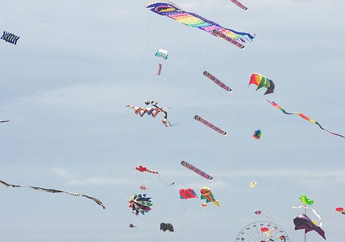 Kites, Colorful, Fun, Flying, Wind