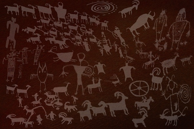 free illustration  rock  art  ancient  historical