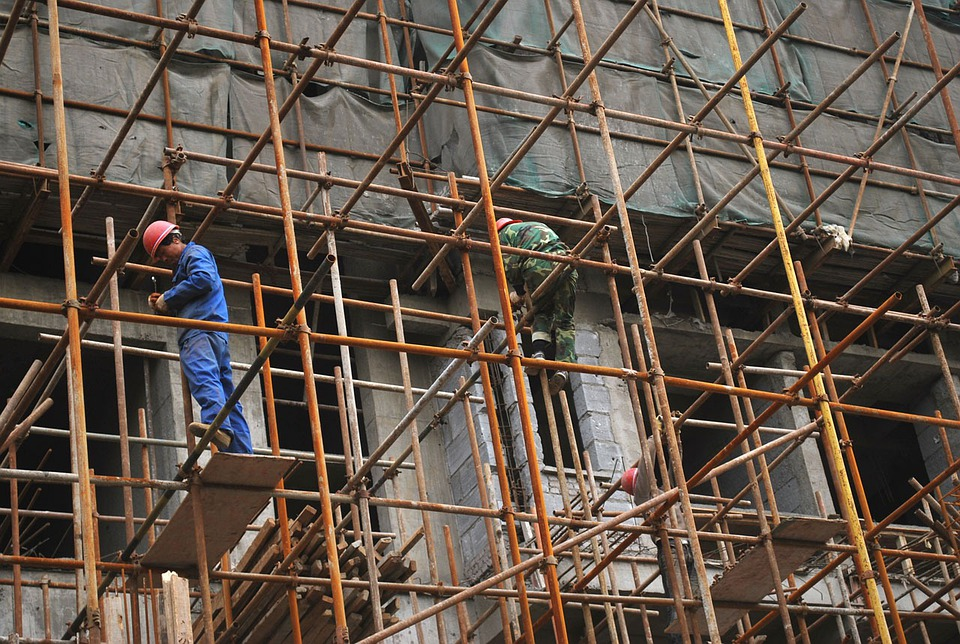 Scaffold, Scaffolding, Construction, Worker, Site