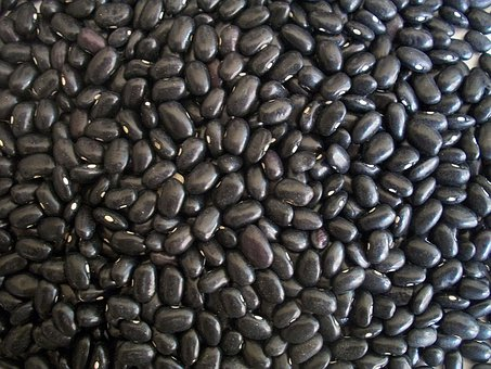 Black Beans, Beans, Dried, Food, Texture