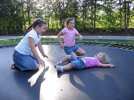 Kids Trampoline Fun Children Girls Jumping