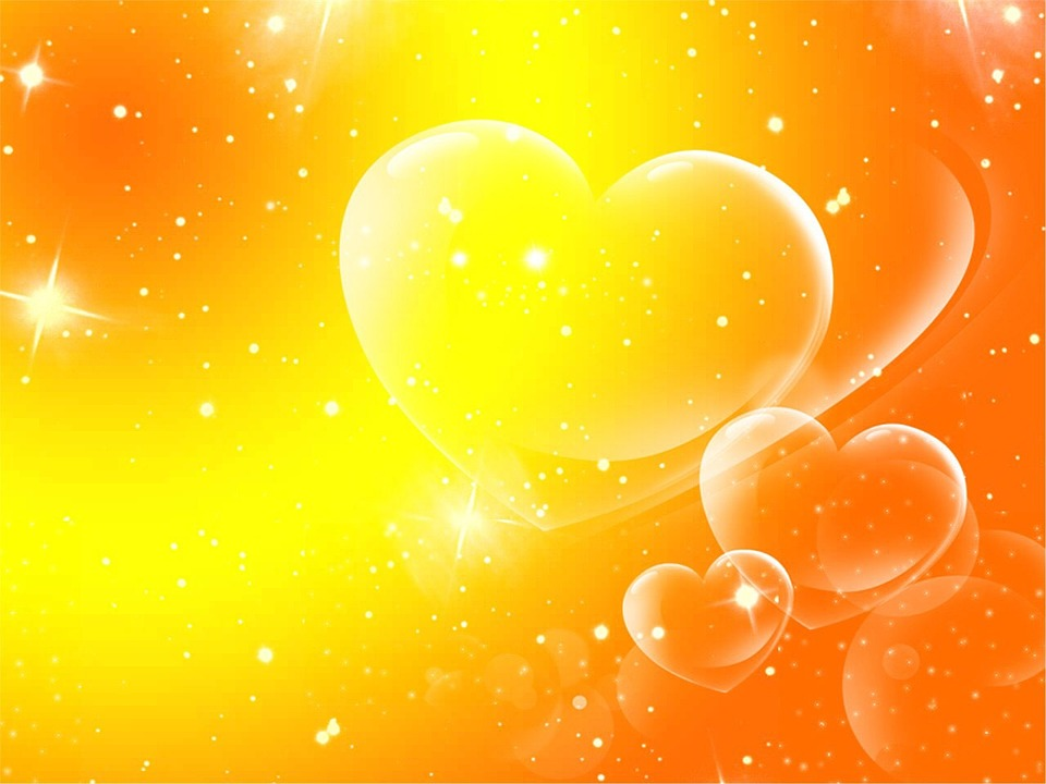 free illustration: hearts, abstract, background, love - free image, Powerpoint templates