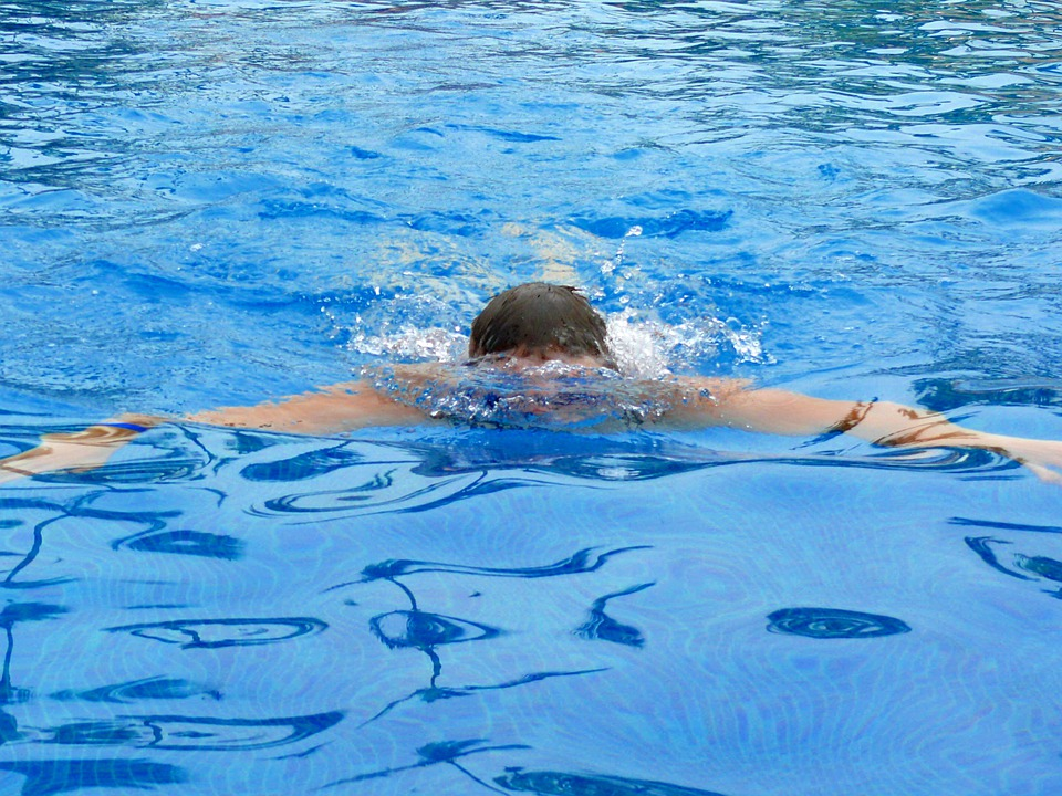 Swimming man water free photo on pixabay - Pool shock how long before swimming ...