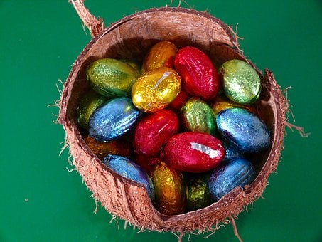 Easter, Eggs, Shell, Coconuts, Hard