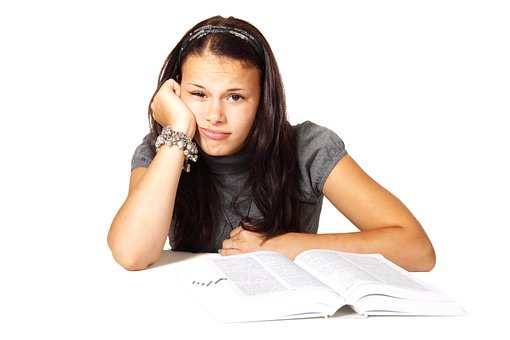 Book Bored College Education Female Girl L