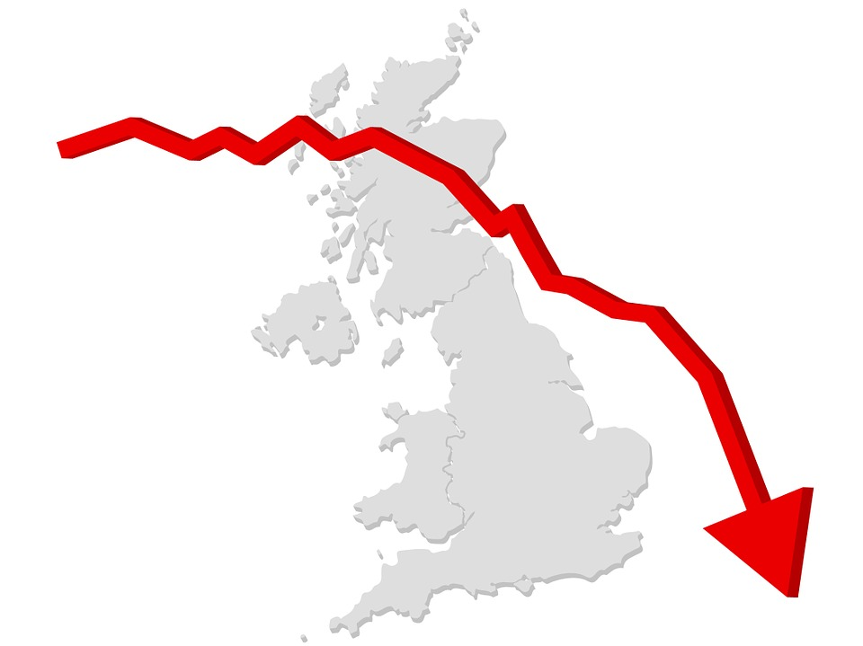 Stock Charts Uk: Free illustration: Arrow Business Crisis Decline - Free Image ,Chart