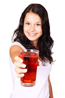 Beverage Diet Drink Female Fresh Fruit Gir