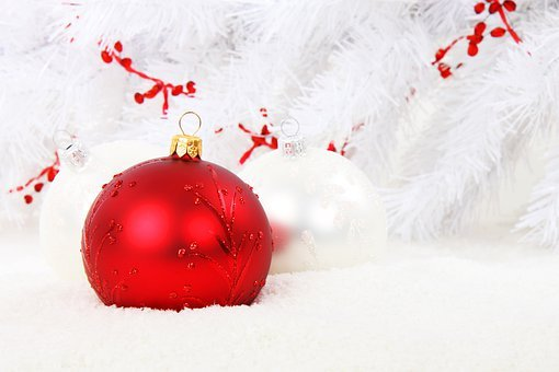 Christmas Bauble, Red, Ball, Celebration