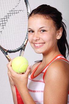 Tennis, Sports, Girl, Fitness, Ball