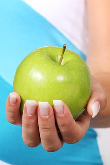 Apple, Diet, Finger, Food, Fruit, Green