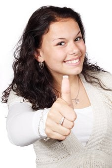 Approval, Female, Gesture, Hand, Happy