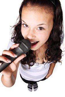 Audio, Female, Girl, Karaoke, Microphone