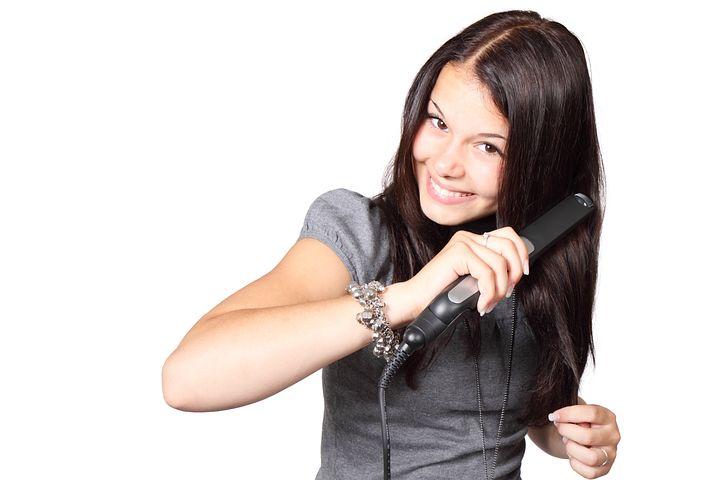 Beauty, Brunette, Cute, Equipment, Straighten hair