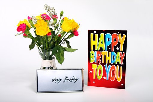 Birthday Bouquet Card Celebration