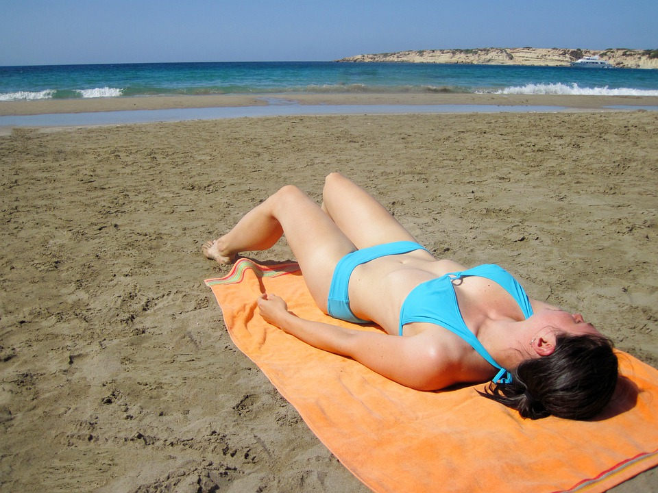 Beach, Bikini, Blue, Body, Female, Girl, Holiday, Ocean