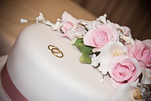 Cake, Decorated, Floral, Roses, White