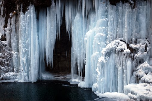 Ice, Iced, Waterfall, Frozen, Cold