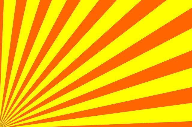 Free Illustration Rays Sun Light Yellow Orange Free