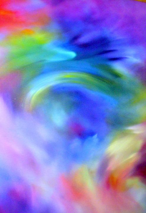 Free Illustration Rainbow Blend Graphic Background