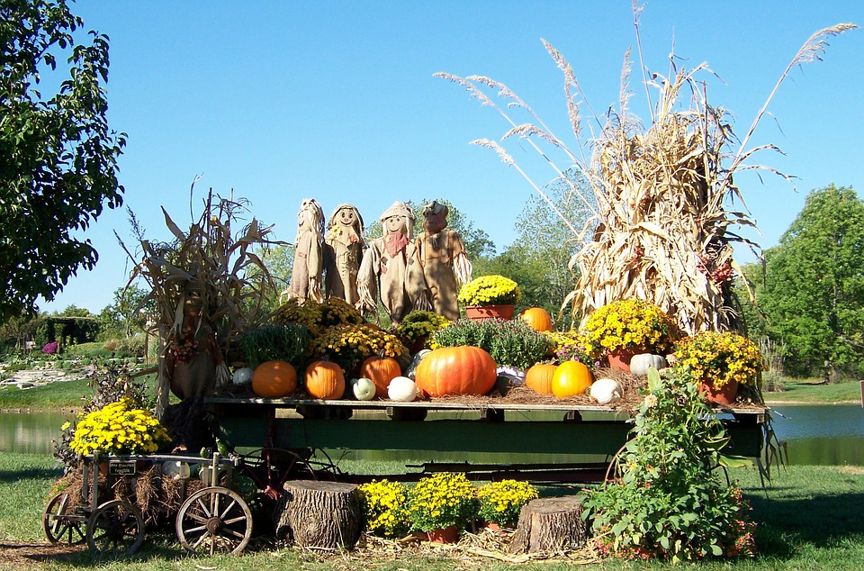 Free photo autumn fall pond scarecrows free image on for Jardines pequenos y bonitos