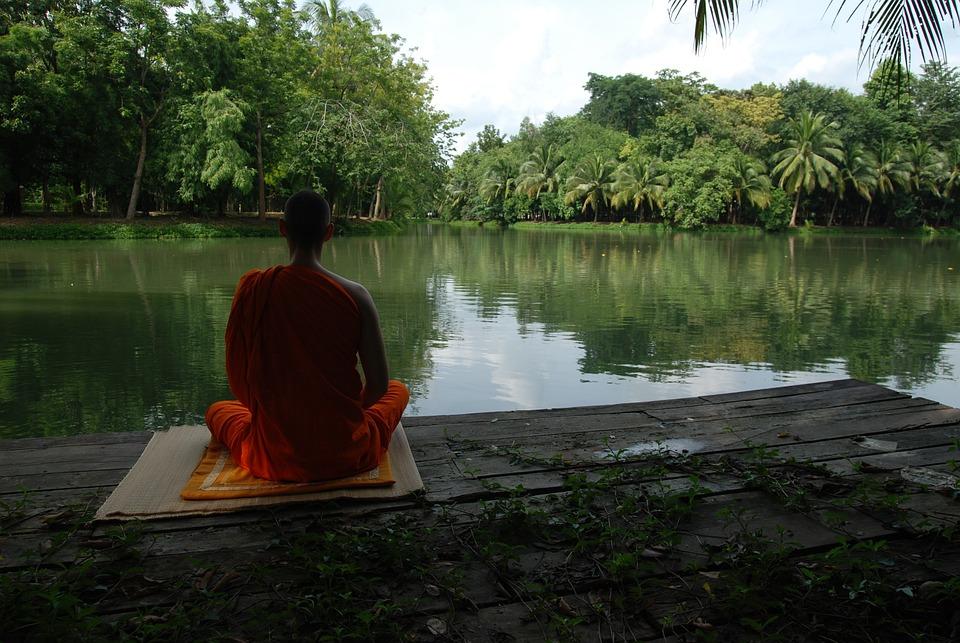 Meditatie, Meer, Boeddhistische, Rust, Concentratie