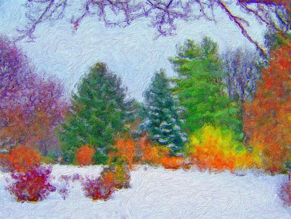 malerier af træer