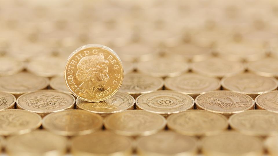 ビジネス, 現金, コイン, コンセプト, クレジット, 通貨, ファイナンス, 金融, ゴールド