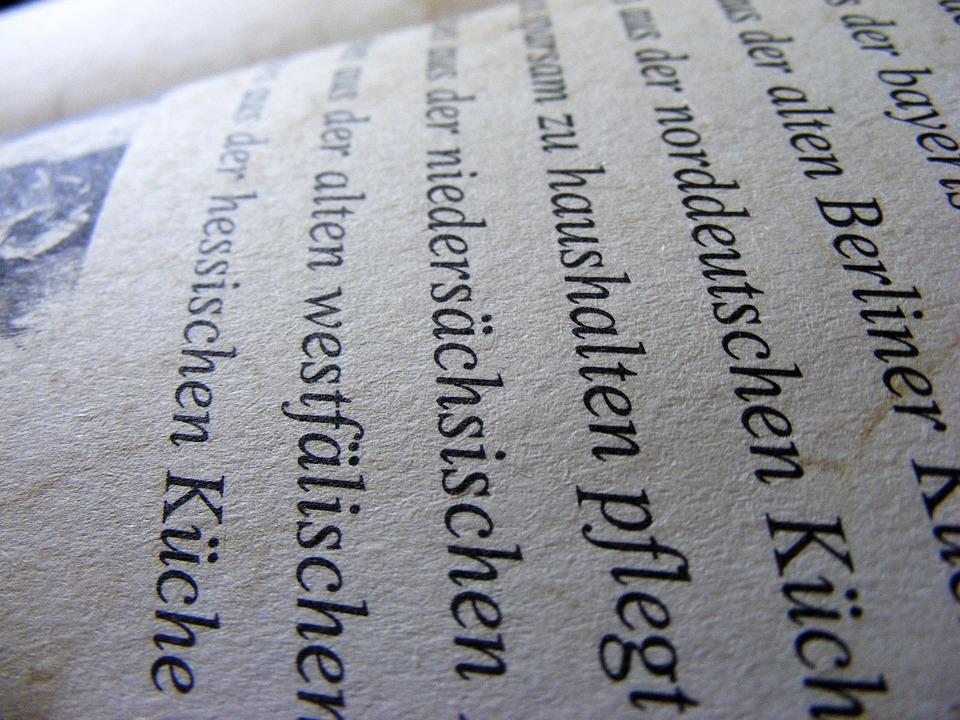 Deutsch, Text, Buch, Papier, Sprache, Bildung, Lesen