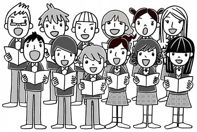 Gratis illustrasjon: Sang, Barn, Synge, Student, Skolen ...