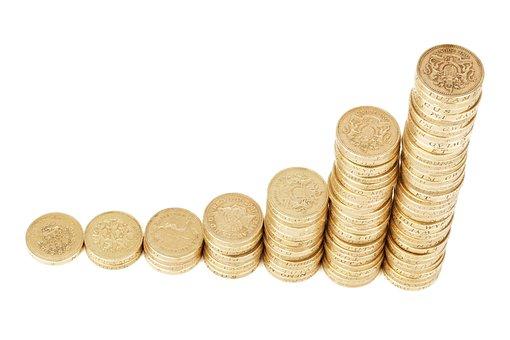 Dinheiro Moedas Pilha Riqueza Finanças Bar