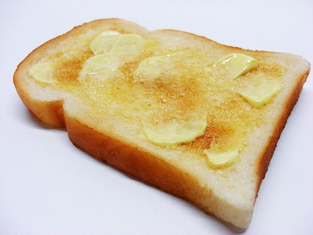 Buttered, Toast, Food, Bread, Margarine