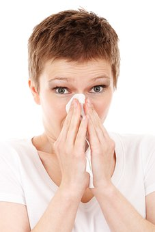Allergy Cold Disease Flu Girl Handkerchief