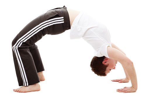 Back, Bend, Bridge, Exercise, Female