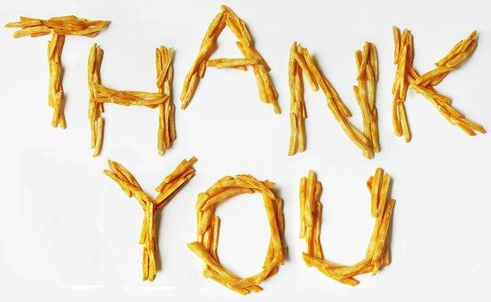 French, Fries, Potato, Thank, You