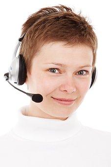エージェント, ビジネス, 呼び出す, センター, 通信, 顧客, 女性