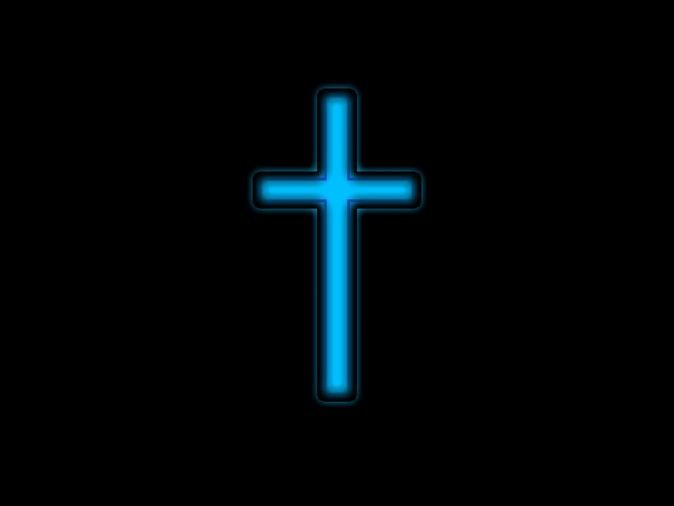 free photo  cross  blue  symbol  christianity