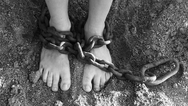 Chains Feet Sand Bondage Prison Freedom Pu