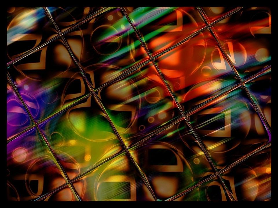 染色, ガラス, 反射, 講演要旨, タイル, パターン, 明るい, カラフルです, ライト, 白熱, 光彩