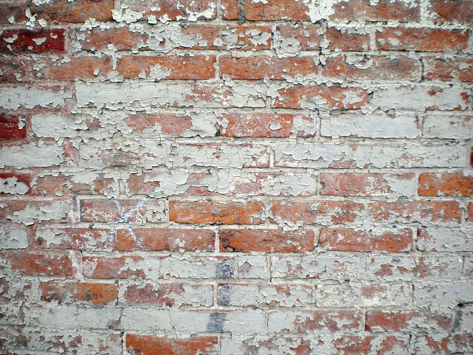 Free photo brick wall paint peeling old free image for Distressed brick wall mural