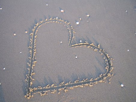 Allt om dating-Heart, Sand, Beach, Love, Summer, Shape