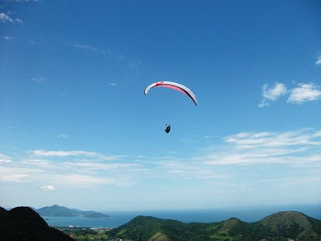 Paragliding, Skydiving, Parachute